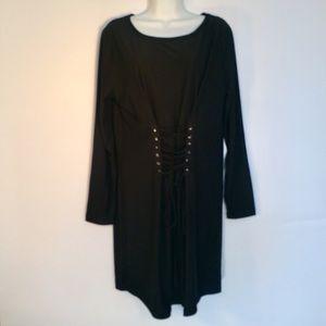 Dresses & Skirts - 1X No Comment -Plus- Stylish Lace Up Waist Dress